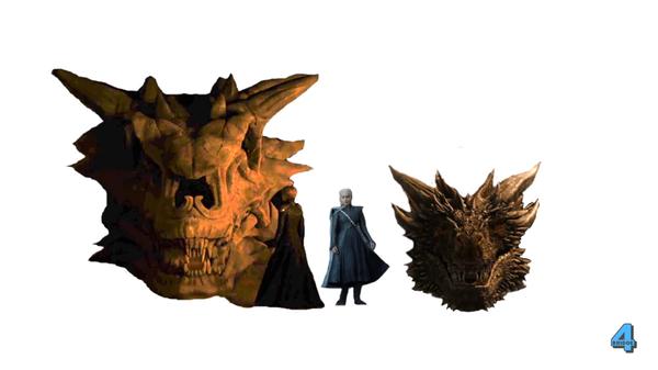 Сравнение размеров Дрогона и Балериона Игра престолов, Дракон, Дейенерис Таргариен, Сравнение, Reddit