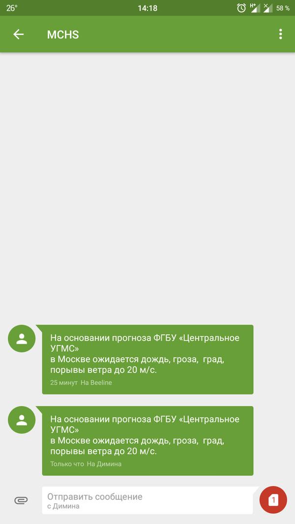 МЧС- бесплатный сервис прогноза погоды мчс, прогноз, прогноз погоды, Дождь, Россия, предупреждение
