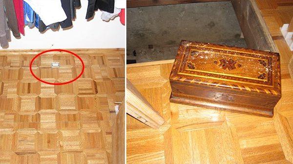 Семья въехала в купленный дом и нашла в чулане потайную дверцу. А за ней настоящее сокровище! фотография, находка, клад, монета, часы, сокровище, тайник, длиннопост