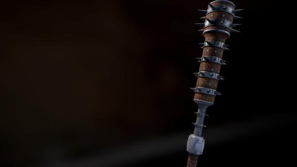 Попытка сделать средневековую булаву по концепту The Elder Scrolls:Online The Elder Scrolls, Argonian, blender, Substance, Оружие, 3d модель, Marmoset Toolbag, моё