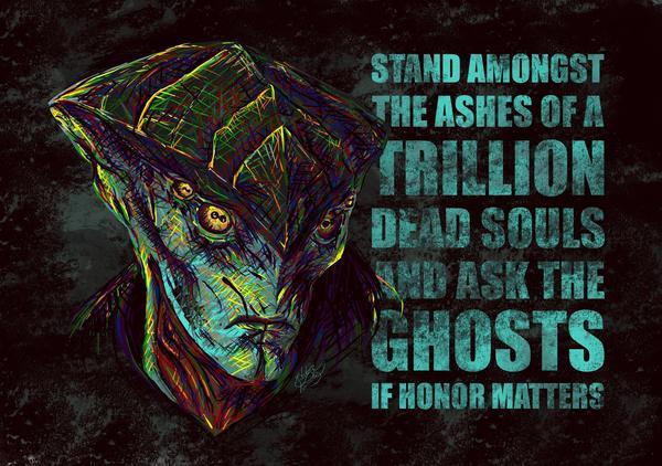Встань среди праха триллионов павших и спроси у их теней, важна ли честь mass effect, Javik, bioware, цитаты