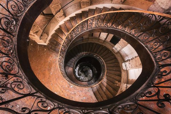 Завораживающий дизайн старинных лестниц лестница, дизайн, старинное, длиннопост