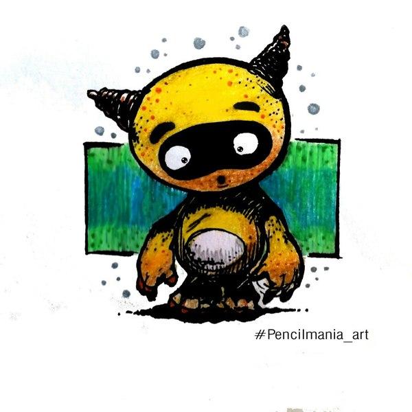 Новые рисунки чернилами. рисунок карандашом, рисунок ручкой, арт, хобби, дудл монстры