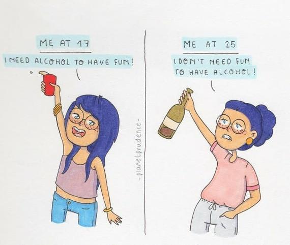 Роль алкоголя старость, алкоголь, возраст, молодость, 9gag