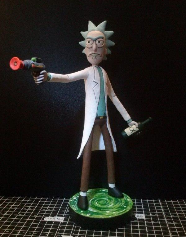 Рик Санчез рик и морти, лепка, полимерная глина, миниатюра