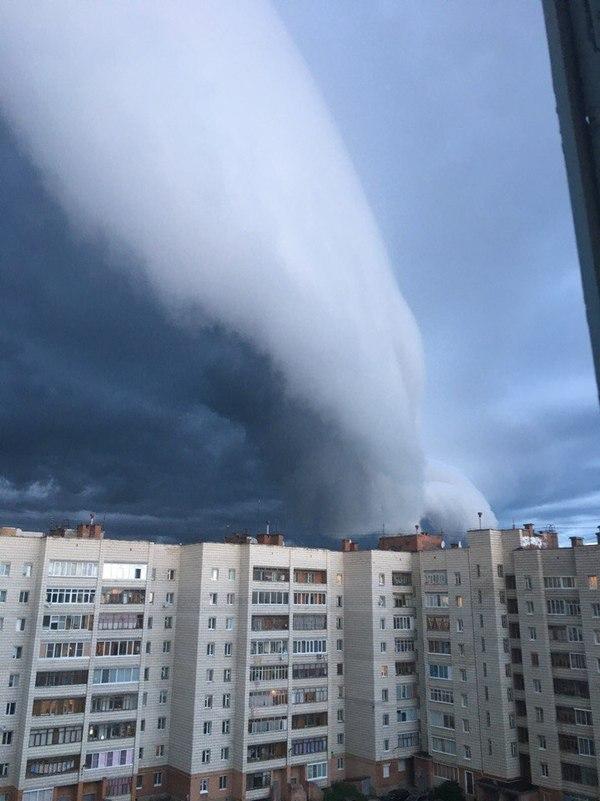 Приближение апокалипсиса, город Ухта Ухта, погода, Небо, тучи, длиннопост