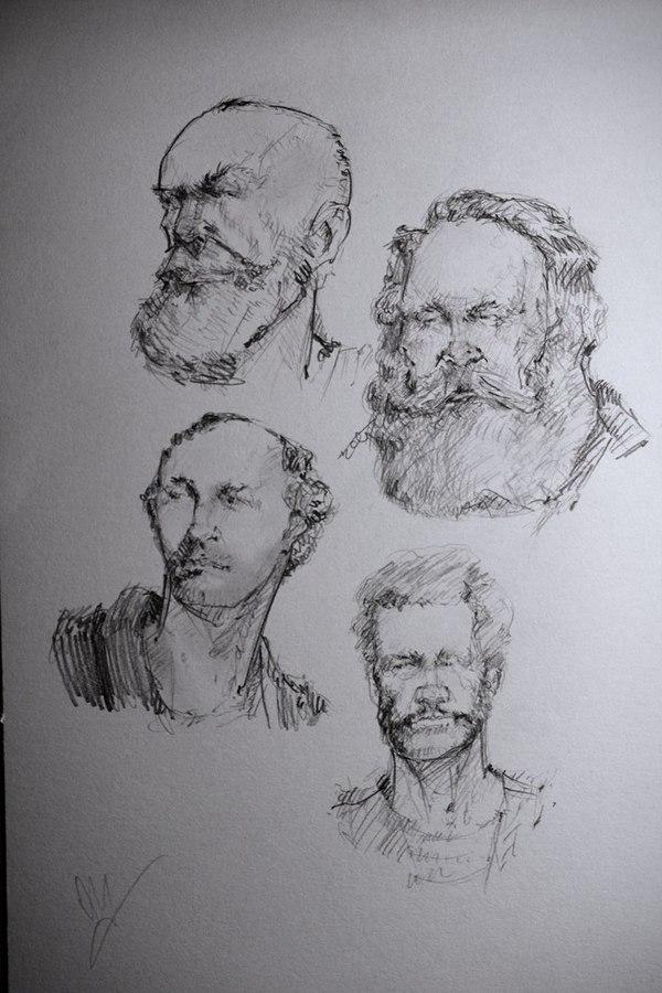 Наброски набросок, рисунок, арт, рисунок карандашом, длиннопост