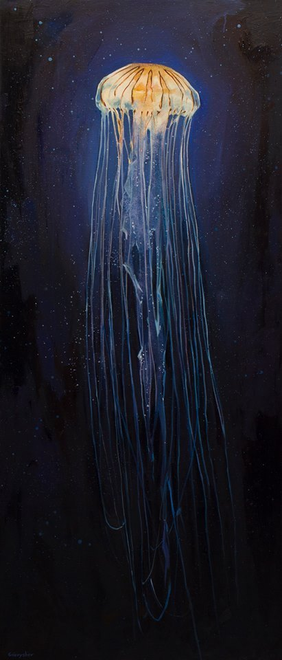 Моя свежая картина! Gnievyshev, арт, картина, медуза, творчество