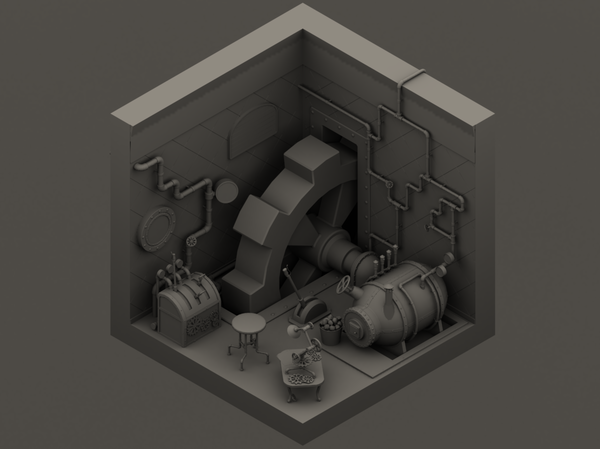 "Лока для ""поиска предметов"" modelling, gamedev, 2d game, steampunkmodel, стимпанк"