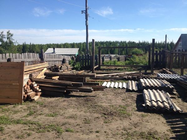 Вот такой сарайчик у нас получился ремонт, сарай, отпуск, работа, лето, Сибирь, деревня, длиннопост