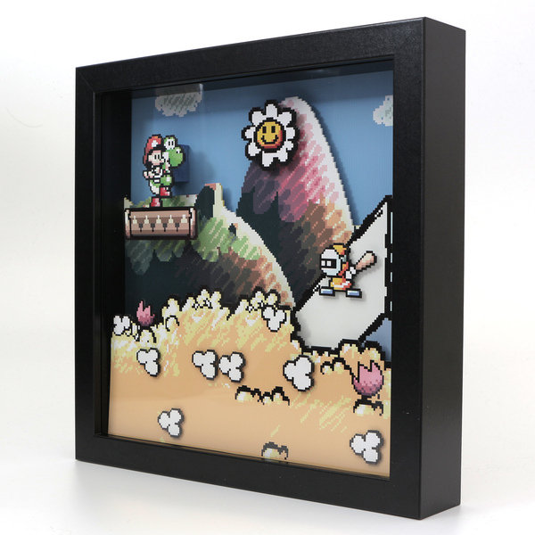 Диорама по игре Super Mario Advance 3: Yoshi's Island Диорама, Игры, моё, олдскул, Марио, своими руками, ностальгия, длиннопост