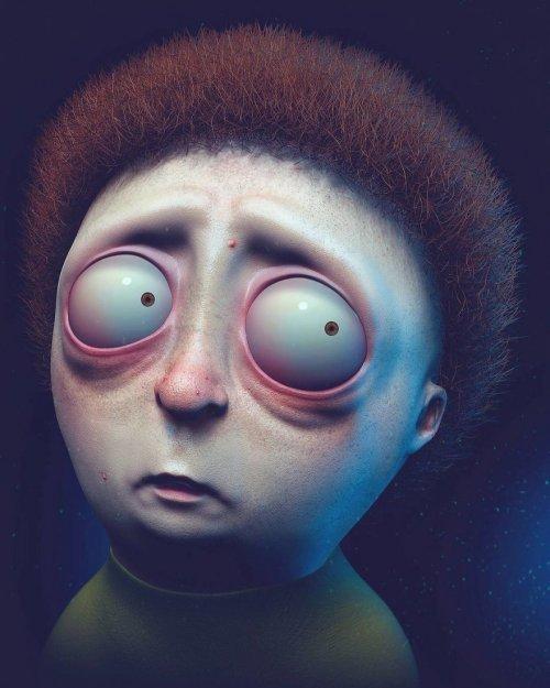 Реалистичные версии известных персонажей в представлении художника Уила Хьюза симпсоны, спанчбоб, рик и морти, арт, длиннопост
