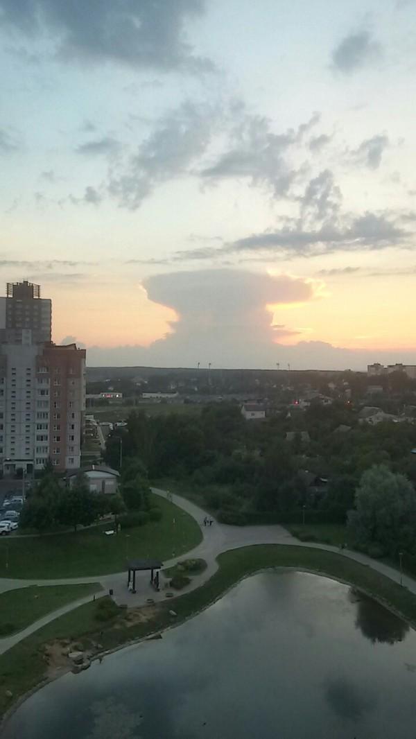 Ядерные испытания в РБ ядерные испытания, ядовитое облако, Небо, Минск