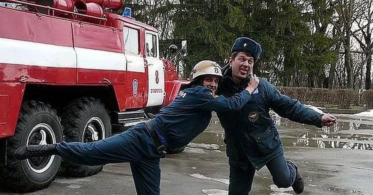 прикольные фото с пожарными самых