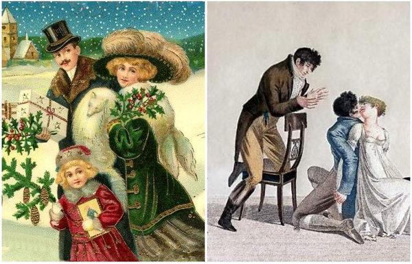 Рождественские вольности  викторианской Англии. Рождество, Англия, викторианство, развлечения, длиннопост