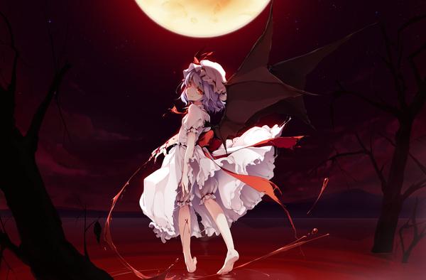 Реми remilia scarlet, Touhou, Тохо, не аниме, Anime Art