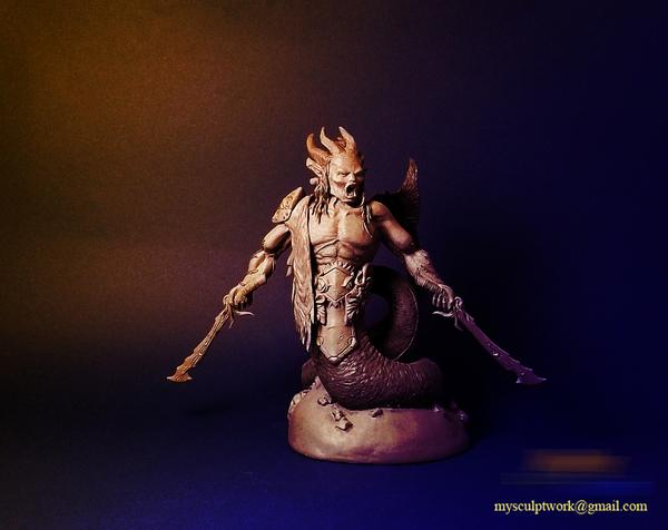 Warrior моё, полимерная глина, скульптура, handmade, длиннопост, рукоделие без процесса