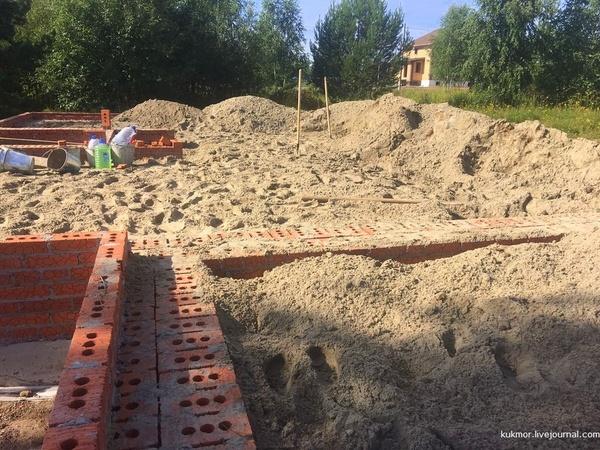 Строю свой дом за 90 дней. 18-23 дни. 1-й этап завершен! строюсвойдом, новостройка, фундамент, свой дом, моё, фотография, бетон, длиннопост