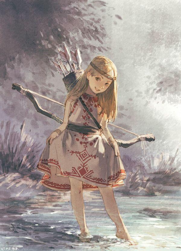 Дочь охотника аниме, Anime Art, Anime Original