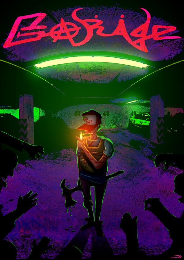 """Постер по игре """"Garage"""" (фанарт) рисунок, цифровой рисунок, garage, gamedev, постер"""