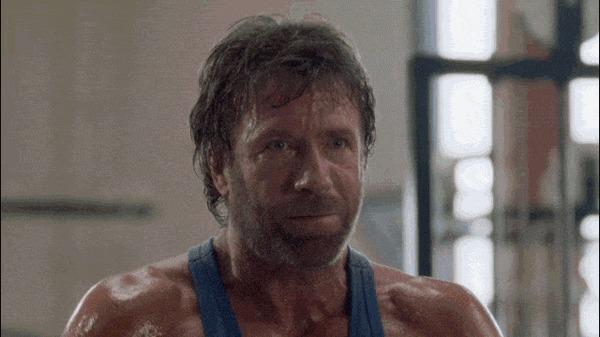 Чак Норрис разминается 2 Чак Норрис, Тренировка, Человек-Паук, Гифка