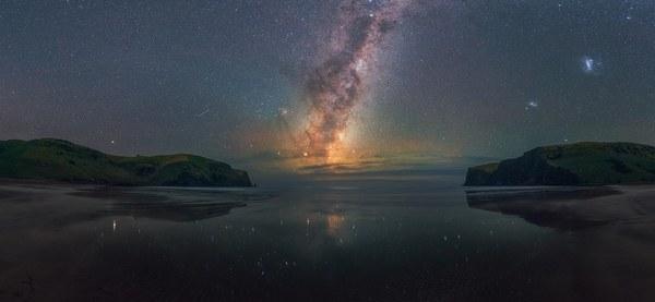 Hickory Bay, New Zealand фотография, ночь, пейзаж, Новая Зеландия