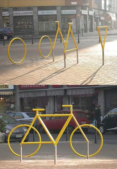 Велосипед с разных углов велосипед, иллюзия, 9gag