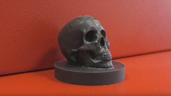 Обработка черепа на ЧПУ ЧПУ, Фрезерный станок, обработка ЧПУ, череп, крипота