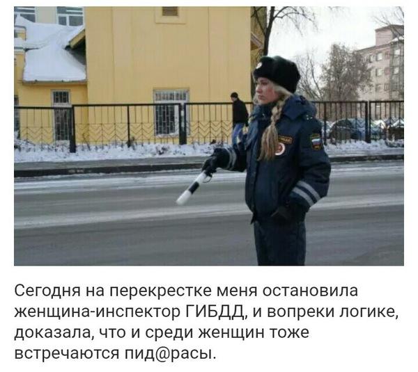 Женщина-инспектор гибдд...