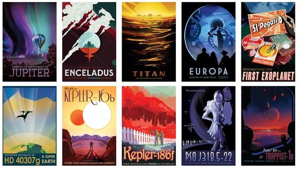 Винтажные постеры от NASA Космос, NASA, Длиннопост