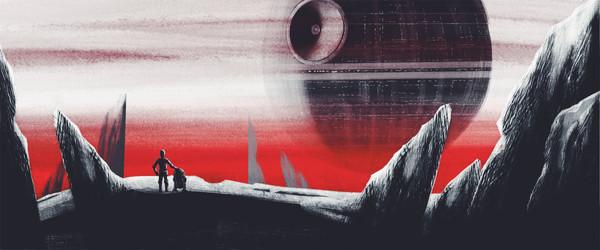 Звезда Смерти от Brett Stebbins star wars, C-3PO, R2D2, Звезда Смерти, Brett Stebbins, арт
