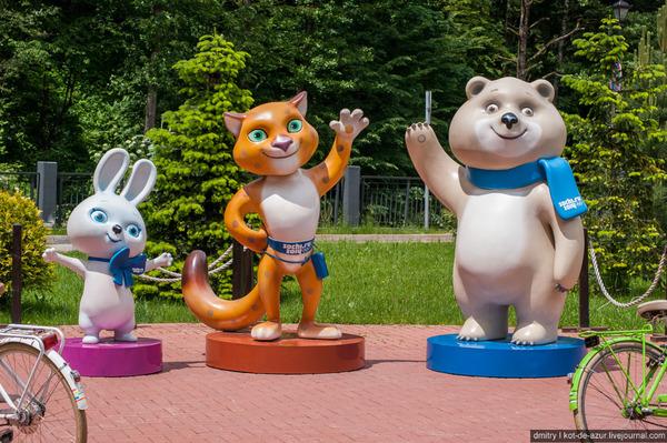 Пострадавшие Олимпийские талисманы олимпийские игры, роза хутор, Красная Поляна, олимпийский мишка, сочи, олимпиада в сочи, длиннопост