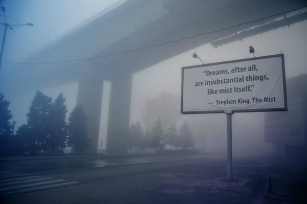 Сегодня показывают Silent Hill — развитие темы туман, Ростов-на-Дону, Photoshop, картинка с текстом, цитаты, мат, длиннопост