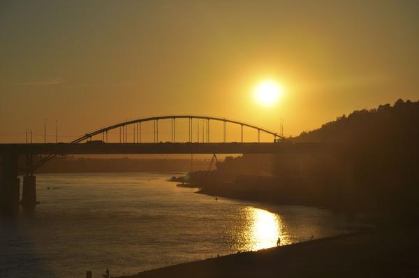 Вечерняя Уфа #2 фотография, Мост, Закат, Уфа, Вечер, Солнце, привет читающим тэги
