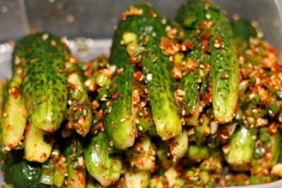Огурцы по-корейски огурцы, закуска, первый длиннопост, по-корейски, еда, рецепт