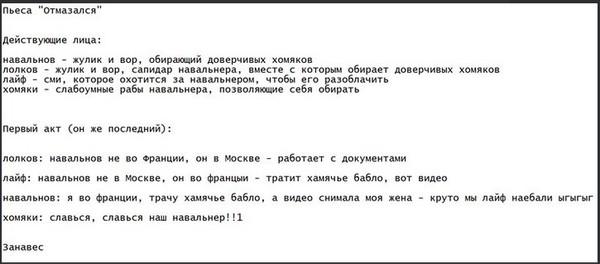Пьеса для Гоголь-Центра в 2-х актах Политика, Алексей Навальный, тупые, хомяки навального, Россия