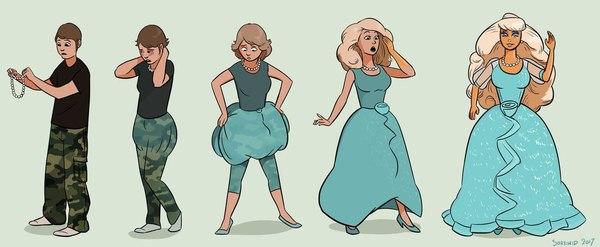 Развитие девушек) арт, sortimid, Эволюция, развитие, девушки, длиннопост, Подборка, фентези