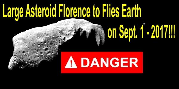 Крупный Астероид Флоренс/Asteroid Florence  подлетит к Земле 1 сентября 2017. ВИДЕО Астероид Флоренс, летит к земле, 1 сентября, астероид