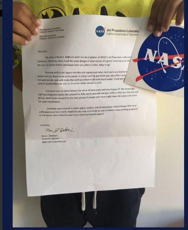 Пятилетний мальчик отправил чертеж ракеты в НАСА, и ему ответили космос, ракета, NASA, длиннопост