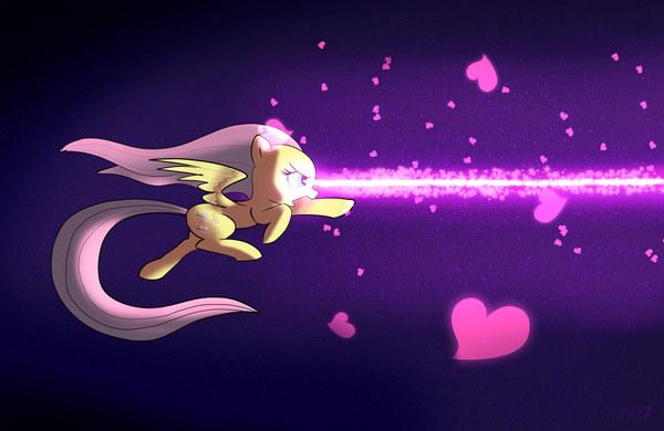 Fluttershy Stare Friendship Laser Beam My Little Pony, ponyart, Fluttershy