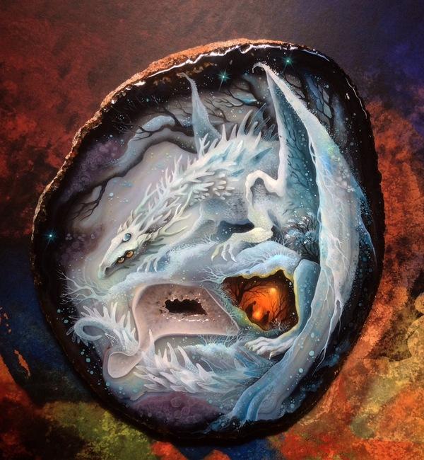 Новые драконы Дракон, роспись, фентези, Акрил, масло, рукоделие с процессом, длиннопост