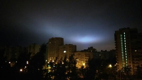 Свечение в небе фотография, Небо, Санкт-Петербург, длиннопост