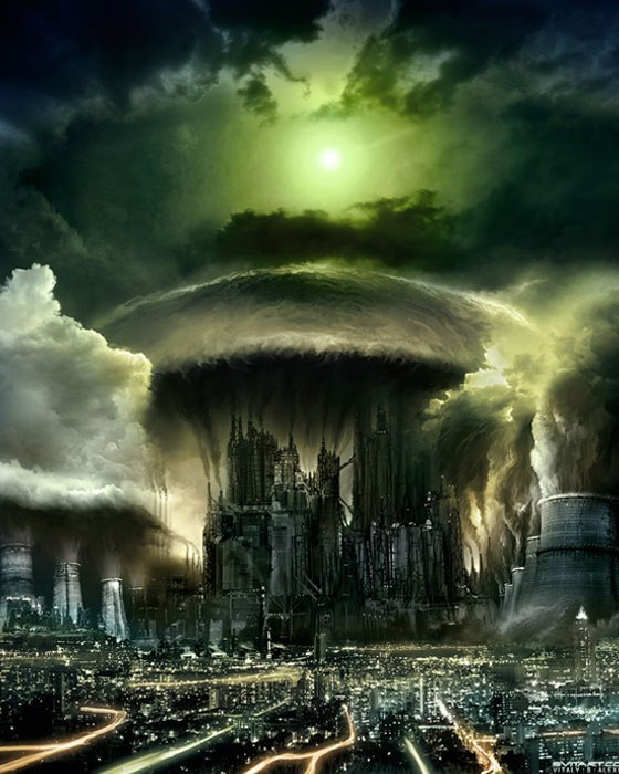 Города будущего Города будущего, арт, длиннопост