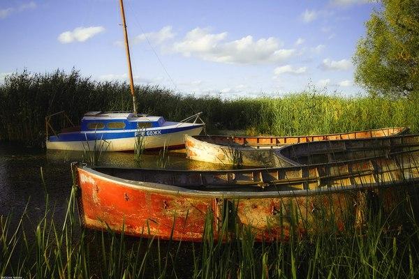 Калининградская область Заливино, калининградская область, Россия, фотография, природа, пейзаж, лодка, лето, длиннопост