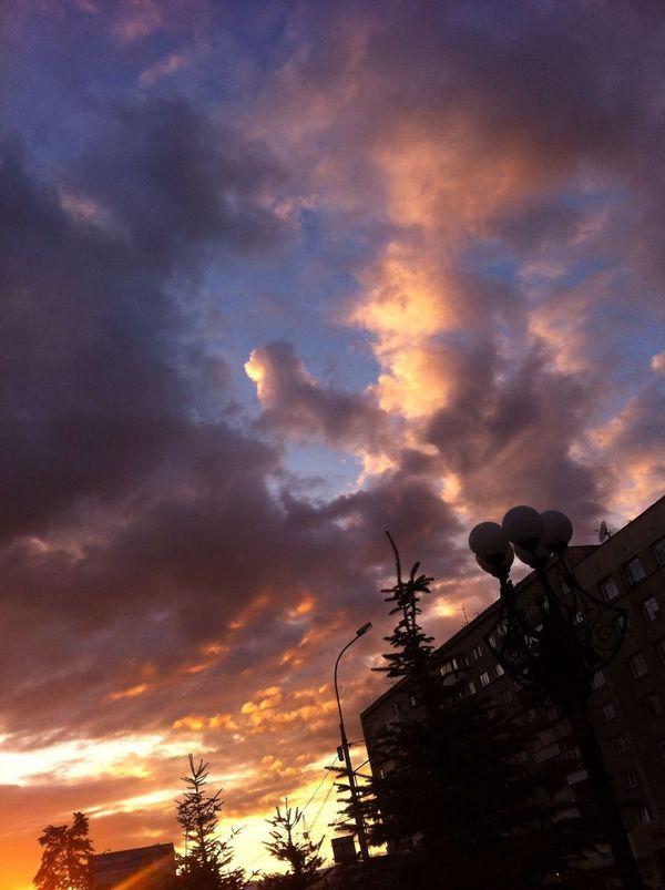 Ушёл в закат новосибирск, облака, закат, длиннопост
