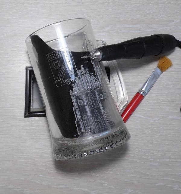 Гравировка на стекле. Тени и полутона. рукоделие с процессом, гравировка по стеклу, длиннопост