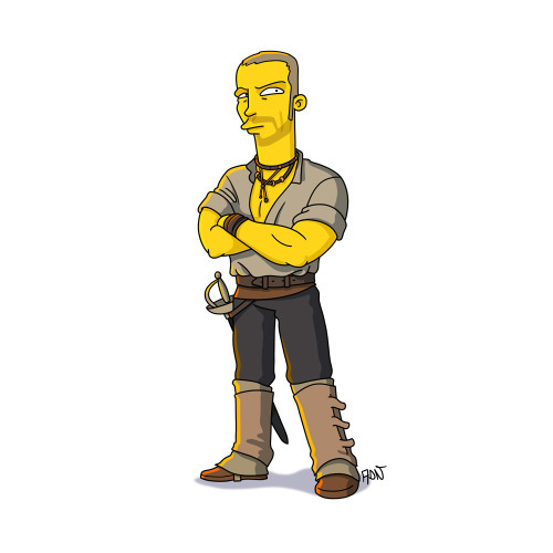 Всех узнали?:) Сериалы в стиле  The Simpsons (Симпсоны) симпсоны, сериалы, Игра престолов, длиннопост