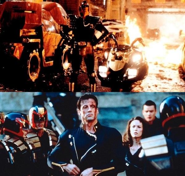 Модераторы: вчера и сегодня модератор, Сильвестр Сталлоне, Разрушитель 1993, Судья Дредд, Фильмы, пикабу, Роб шнайдер, бунт