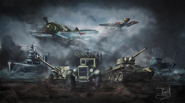 Работа на тематику военной техники ВОВ | рисунок с нуля Моё, Рисунок, Война, Танки, Самолет, Корабль, Творчество, Компьютерная графика