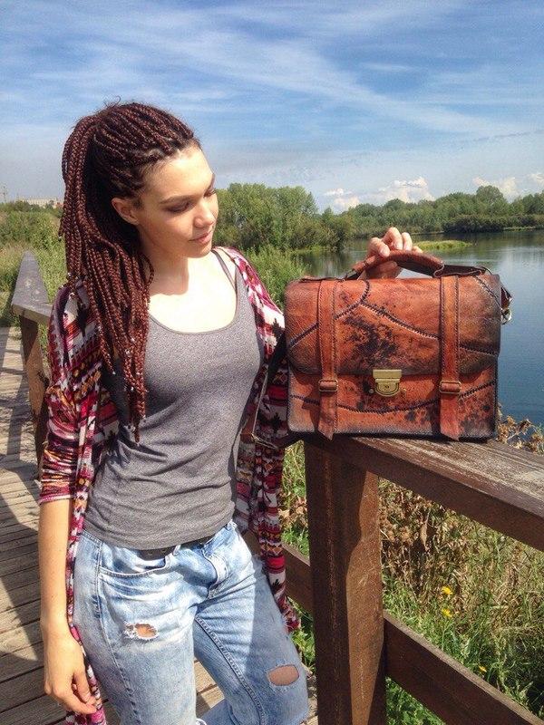 Кожаная сумка-франкенштейн своими руками